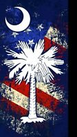Patriotic Palmetto Moon Beach Towel 30x 60