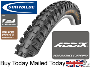 Schwalbe Magic Mary Addix Tyres DH Bike 26 x 2.35 60-559 Wide Downhill Gravity