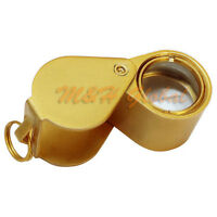 12 Mm Magnifier 14x Diamond Loupe Loop Magnification Glass Jewelers Tool - Gold