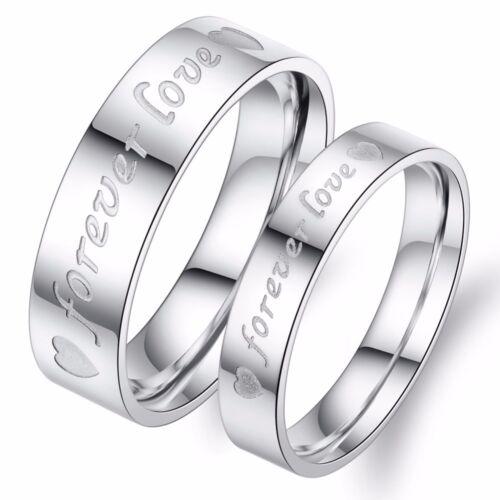 Edelstahl Verlobungsringe Partnerringe Trauringe Freundschaftsringe mit Gravur
