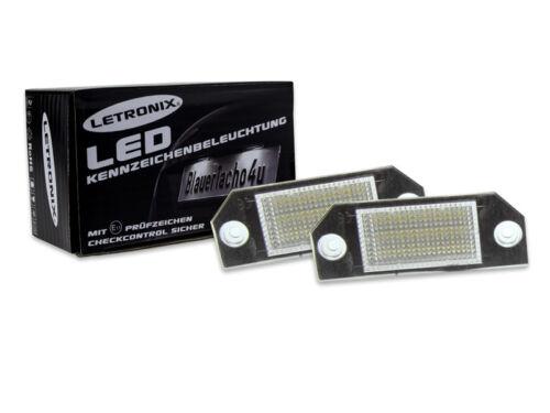 24 SMD LED Nummernschildbeleuchtung Modul Ford Focus MK2 Bj 03-08 E-Prüfzeichen