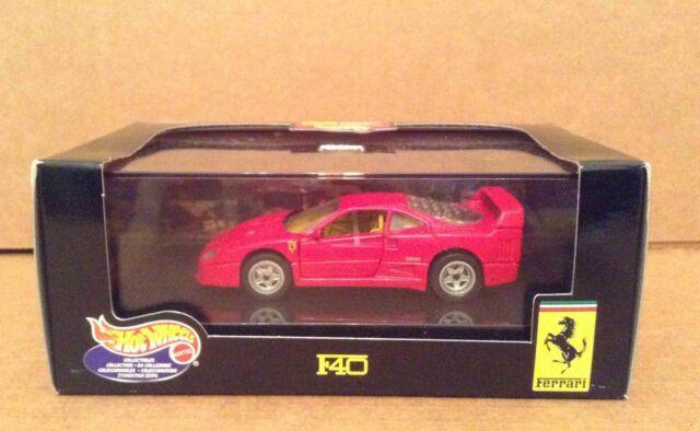 Hot Wheels Red Ferrari F40 Car Vehicle 1:43 diecast metal NEW In Box 25709