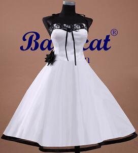 50er Jahre Tanzkleid Brautkleid Kleid Vintage Hochzeit Neu Petticoat