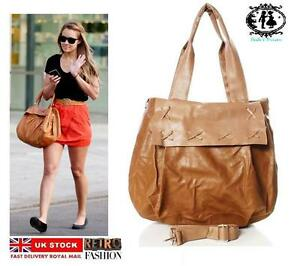 Image Is Loading Las Faux Leather Handbag Celebrity Style Shoulder Hobo