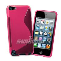 for iPod Touch 5 5th Gen Gel TPU hot-pink Case Skin Cover