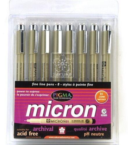 ONE SAKURA PIGMA MICRON BRUSH TIP PEN BLACK NEW ART PENS 1 EACH XSDK-BR49