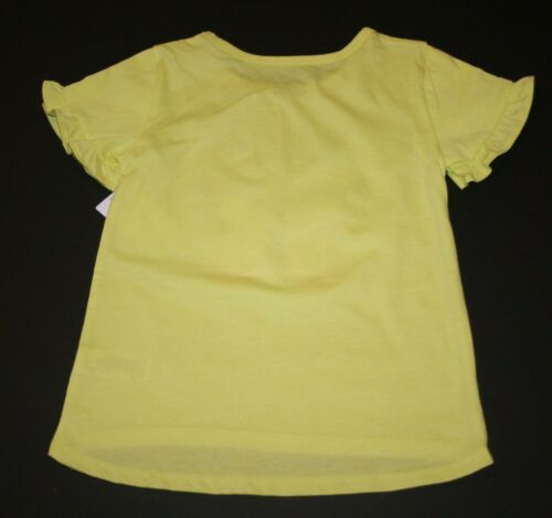 New Carter/'s Girls 3T 4T 5T Keep Smiling Butterfly Yellow Top Ruffle Sleeves