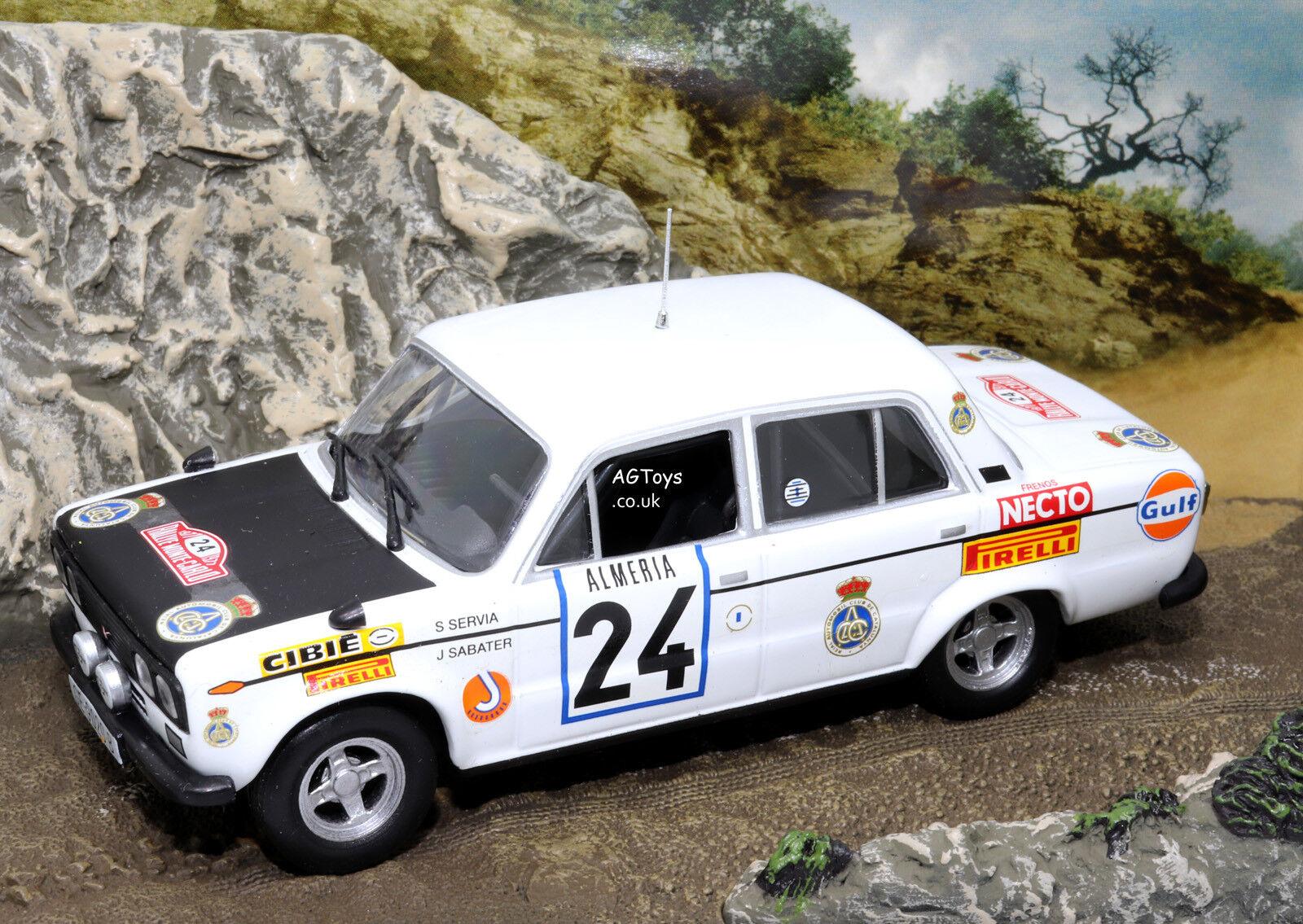 Rally Car Collection Seat 1430 Rally Monte Carlo 1977 S.Servia 1 43 Model