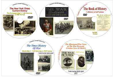 large WW1 PDF Collection News Illustrated Pictorial World War One 5 DISKS + BOH