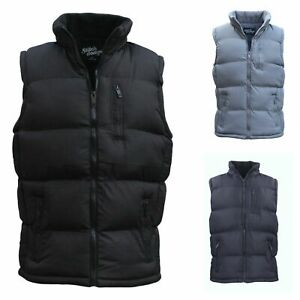 New-Men-039-s-Hooded-Puffy-Puffer-Sleeveless-Jacket-Winter-Thick-Vest-Quilted-Jacket
