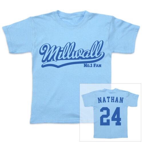 FC Millwall Fußball personalisiert Baby//Kind T-Shirt