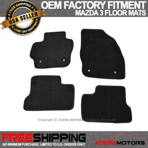 Fits 10-13 Mazda 3 OE Factory Fitment Floor Mats Carpet Front /& Rear Nylon Black