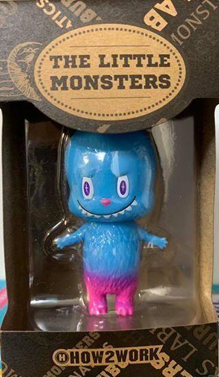Labubu X cómo 2 funcionan los pequeños monstruos Kasing Mini Figura Versión Azul Juguete Soul
