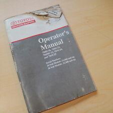 Toyota Forklift 7bru18 7bru123 7bdru15 7bsu20 Owner Operator Operation Manual 7b