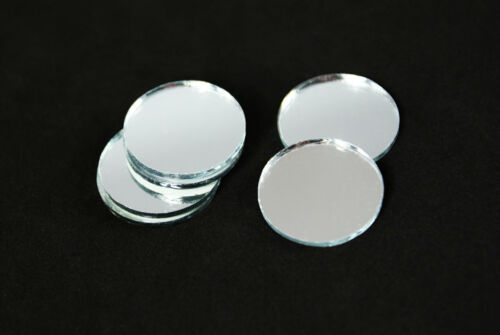 """3//4/"""" Available Round Circle Silver Craft Glass Mirror Mosaic Tiles Deco Art 1/"""""""