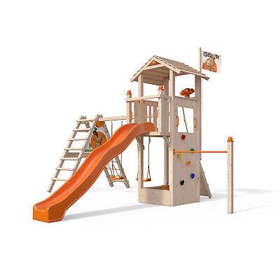 SIDOR Dori Spielturm Kletterturm mit XXL Rutsche Kletterwand 1,50 m Podesthöhe