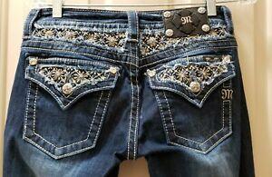 Miss-Me-Signature-Boot-Denim-Jeans-Size-27-Rise-7-5-Waist-15-30X34