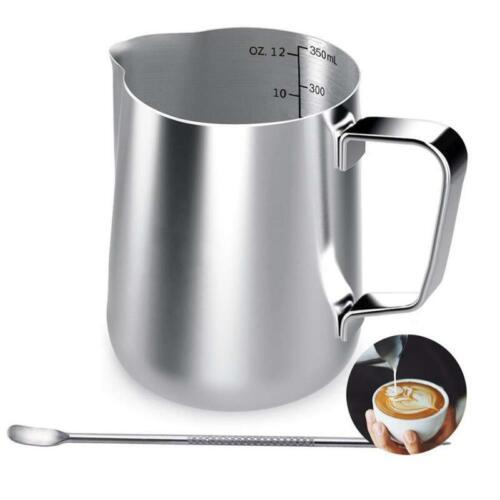 Aufschäumkännchen Milchkännchen Aufschäumer Kännchen Tasse mit Messung 350 ml