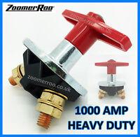 Red Key Battery Isolator Cut Off Kill Switch 1000Amp 6v 12v 24v Universal