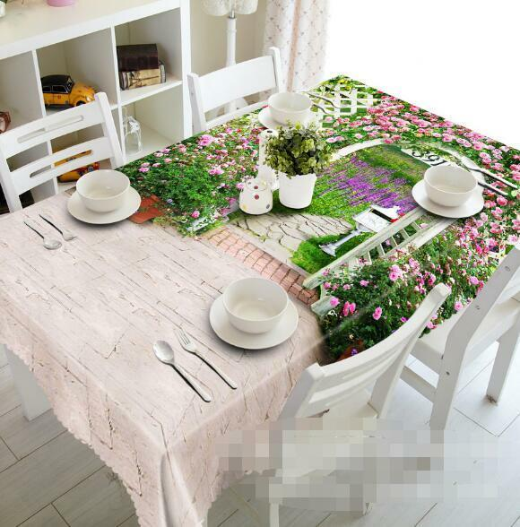 3D Garden 456 Tablecloth Table Cover Cloth Birthday Party Event AJ WALLPAPER AU