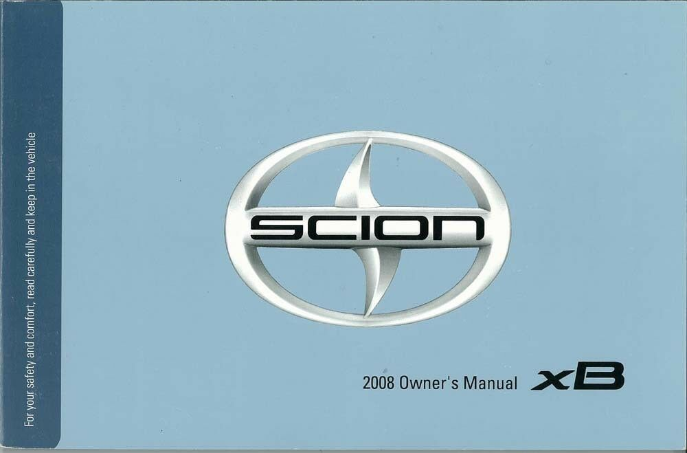 2008 scion xb owner manual user guide reference operator book fuses rh ebay com 2008 scion xd service manual 2008 scion xb service manual pdf