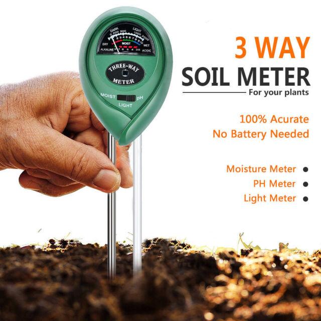 3 in1 Soil Tester Water PH Moisture Light Test Meter Kit For Garden Plant~F TES