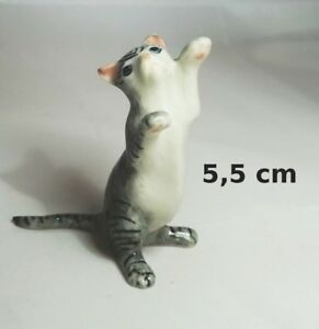 Chat Miniature En Porcelaine,collection,animal,animaux, Cat, Kat, Poes,gris *s2 Pg5no2dy-07232932-135918962