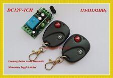 12V wireless remote control switch transmitter&receiver 315/433MHZ M4/L4/T4 adju