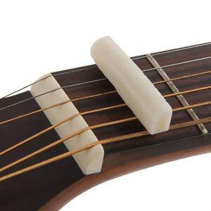 Fresh Buffalo Bone Bridge Saddle And Slotted Nut For 6 String