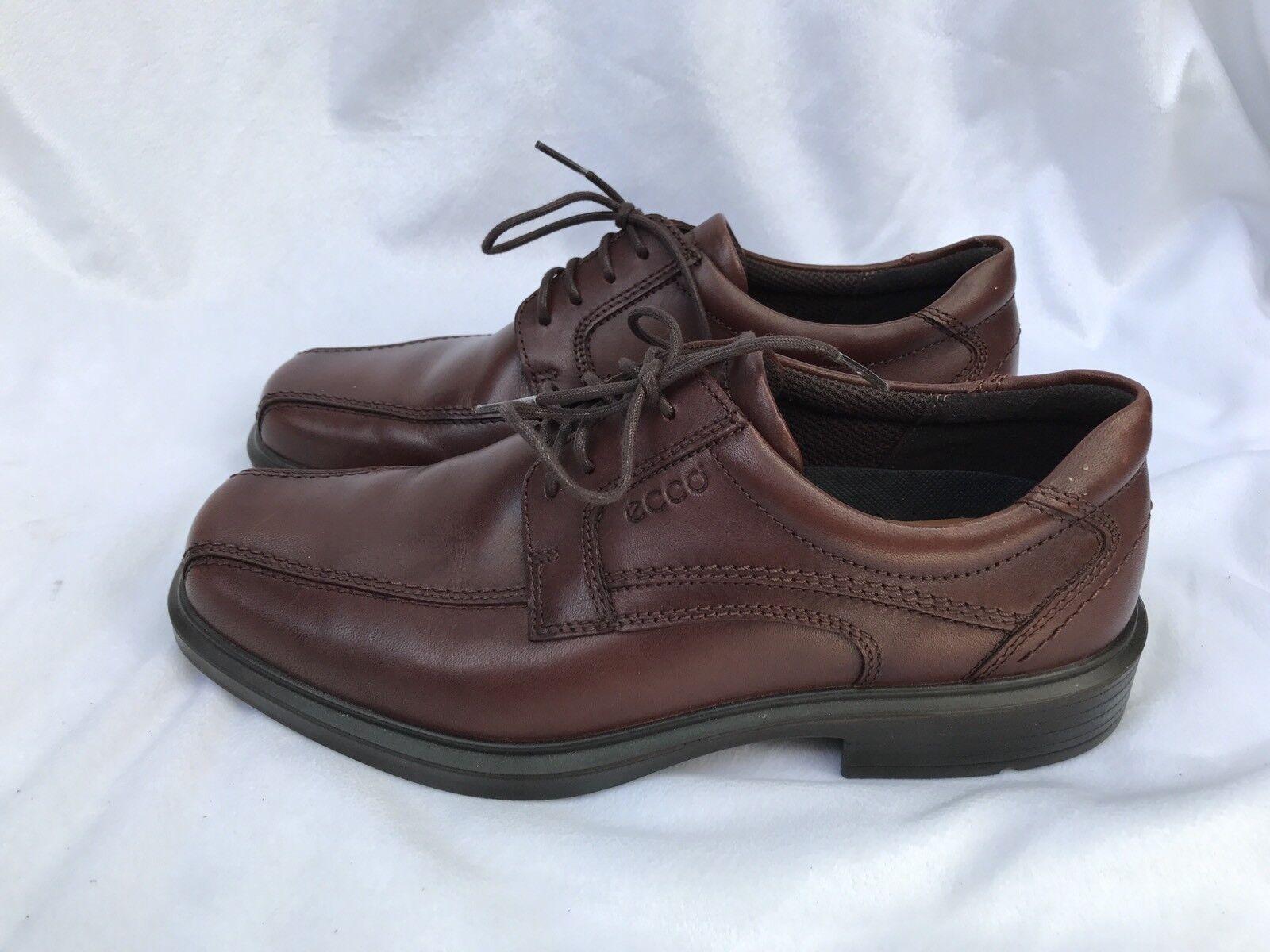 Ecco Men's Helsinki 50104 Brown Leather Lace Up Dress shoes 40