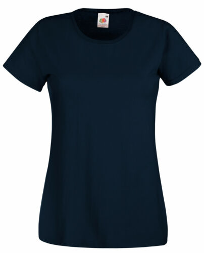 2 Fruit Of The Loom 100/% COTON FEMME T Shirt S-XL