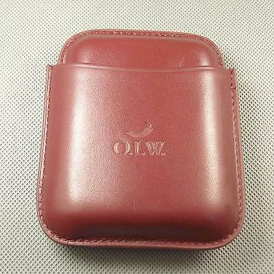 NEW Red Genuine Leather MINI Holds 4 Cigars Cigar Case With Box