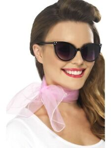 *SALE** 50/'s Rock N Roll Pink Lady Poodle Scarf Grease Fancy Dress Accessory