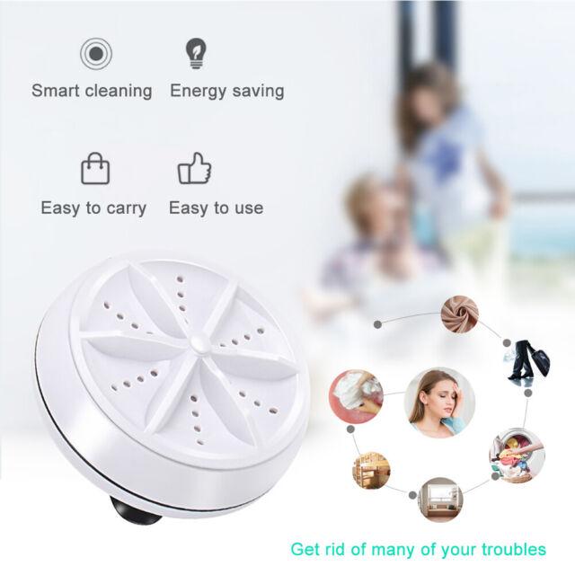 USB Mini Washing Machine Portable Rotating Ultrasonic Turbine Laundry Washer AN
