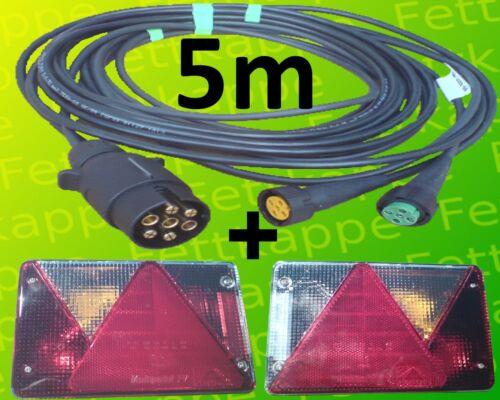 Aspöck Multipoint 4 Anhänger Rückleuchten mit 7pol Rücklichter 5,0m Kabelsatz