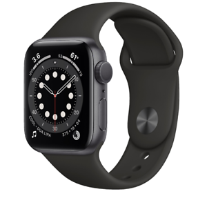 Apple Watch Series 6 40mm Aluminum Case Black Sport Band MG133LL/A