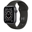 thumbnail 1 - Apple Watch Series 6 40mm Aluminum Case Black Sport Band MG133LL/A