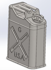 1//56 28mm German Jerrycan WWII 3D 1//48 1//72 1//35 Jerrycan Alemán WWII