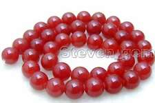 "SALE High quality 12mm Red jade gemstone beads strands 15""-los420"