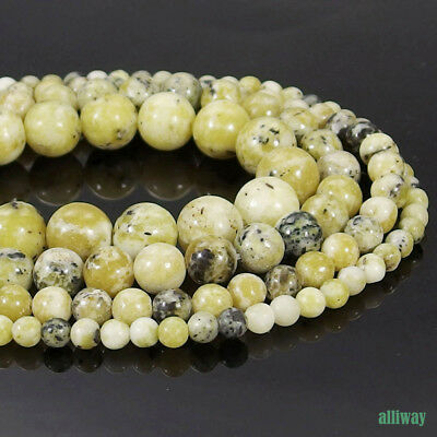 "15/"" Nature Yellow Turquoise Howlite Gemstone Loose Beads Jewelry Making 8mm"