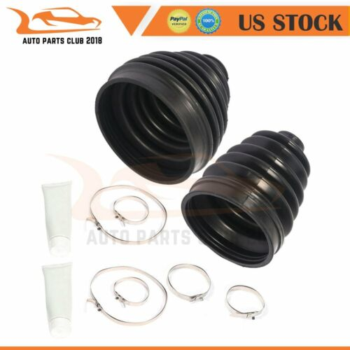 Pair Outer Inner CV Axle Boot Kit Front Fits 2007 Chevrolet Silverado 1500