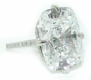 16-CT-STUNNING-Diamond-and-Lannyte-Cushion-Kim-Kardashian-Ring-18K-White-Gold