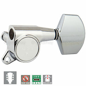 NEW Gotoh SG381-01 MG Magnum Locking Keys 16:1 Schaller Style Set 3x3 - CHROME