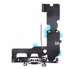 Black Charging Dock Port USB Flex Cable with Mic Antenna for iPhone 7 Plus 5.5''