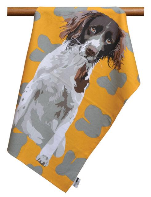 Leslie Gerry Springer Spaniel Dog Design Tea Towel  100% Cotton
