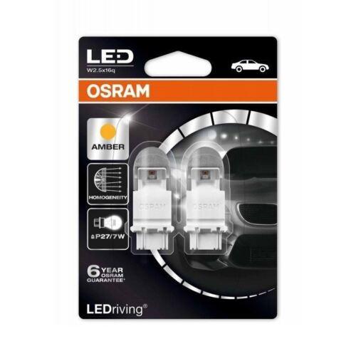 Osram P27//7W DEL 12 V Premium 3557YE-02B éclairage extérieur Indicateur Ambre Twin