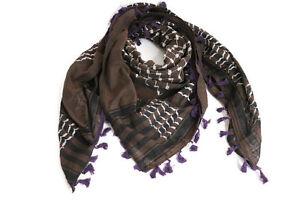 Hirbawi-Scarf-Shemagh-Brown-Keffiyeh-Unisex-47-034-x47-034-Original-Brand-New-Cotton