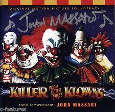 KILLER KLOWNS FROM OUTER SPACE John Massari AUTOGRAPH Dickies SOUNDTRACK CD Mint
