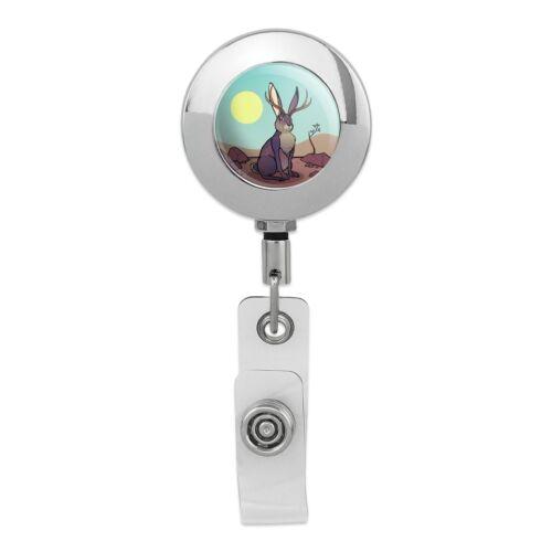 Sleepy Owl Antique Retro Retractable Reel Chrome Badge ID Card Holder Clip