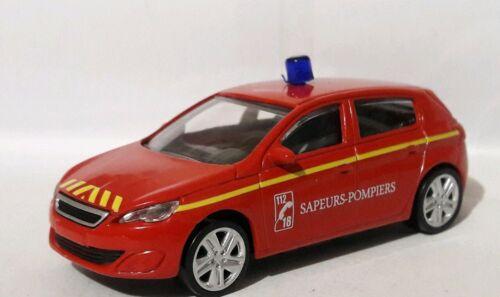 Norev 3 inches 1//60 Neuf sans boite. Peugeot 308 pompiers